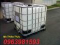 Bán thùng đựng hóa chất, thùng nhựa 1 khối, tank IBC giá rẻ