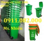 Nơi cung cấp thùng rác 240 lít giá rẻ nhất Tây ninh- lh 0911.082.000