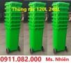 Cần bán 3000 thùng rác 240 lít màu xanh giá sỉ- thùng rác công cộng