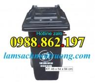 thùng rác HDPE y tế 120 lít, thùng rác HDPE y tế 240 lít thùng rác nhựa composi