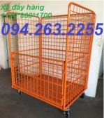 Sản xuất lồng thép trữ hàng, lồng thép chứa hàng, xe đẩy hàng giá rẻ