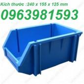Hộp đựng linh kiện, hộp đựng ốc vít, sóng nhựa đặc, hộp nhựa cơ khí, kệ dụng cụ