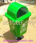 Bán thùng rác treo, thùng rác treo 55L, thùng rác treo nhựa composite, thùng rác