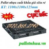 Pallet nhựa xuất khẩu – pallet nhựa đen – thanh lý pallet nhựa hàng tồn kho