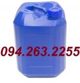 Can 20 lít, can 30 lít, can nhựa vuông màu xanh, can đựng hóa chất