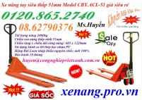 Bán xe nâng tay siêu thâp 51mm giá siêu rẻ call 01208652740 – Huyền