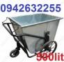 Xe gom rác 500 lít, xe gom rác bằng tôn, xe đẩy rác, thùng rác tôn