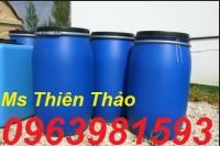 Thùng phuy nhựa giá rẻ, vỏ thùng phuy cũ, thùng phuy 220l nắp hở