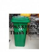 Bán thùng đựng rác gia đình 2 bánh xe kéo dung tích 120L giá sỉ - 0963.839.593