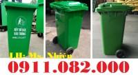 Bán thùng rác 240 lít giá rẻ tại Trà Vinh- thùng đựng rác bằng nhựa- lh 0911.082