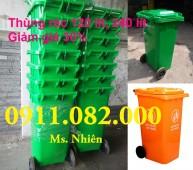 Phân phối thùng rác công cộng, thùng rác y tế giá rẻ- thùng rác 120 lít giá sỉ