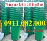 Nơi phân phối sỉ lẻ thùng rác 240 lít giá rẻ tại vĩnh long- lh 0911.082.000