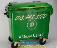 Thùng rác 660 lít 4 bánh xe nhựa hdpe giá sốc call 0984423150 – Huyền