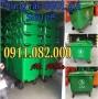 Sỉ lẻ thùng rác 660 lít giá rẻ tại vĩnh long - thùng rác 4 bánh xe- lh 091108200