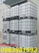 Bồn đựng hóa chất, bồn nhựa trắng 1000l, thùng nhựa 1000l giá rẻ