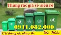 Điểm bán thùng rác giá rẻ tại đồng tháp- thùng rác 120L 240L 660L giá rẻ toàn qu