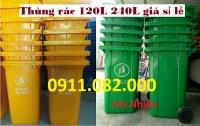 Nhà cung cấp thùng rác nhựa, thùng rác 120 lít 240 lít 660 lít giá rẻ- lh 0911.0