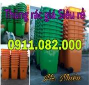 Cung cấp thùng rác 240 lít giá rẻ tại trần đề sóc trăng- lh 0911.082.000
