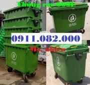 Sỉ lẻ thùng rác 660 lít giá rẻ tại trà vinh - thùng rác nhựa nắp kín- lh 0911082