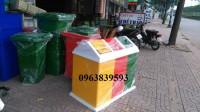 Thùng rác Composite - Thùng phân loại rác thải 3 ngăn giá sỉ - 0963.839.593