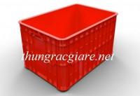 Rổ nhựa đan có bánh xe, rổ nhựa, hộp nhựa đựng đồ giá sỉ - 0963.839.593