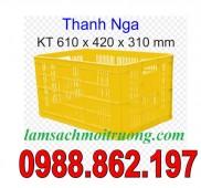 Sóng nhựa hở HS004, sọt nhựa HS 004, thùng nhựa rỗng Hs004, HS004