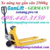 Xe nâng tay gắn cân 2500kg EV25 GAMLIFT giá siêu cạnh tranh call 0984423150