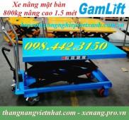 Xe nâng mặt bàn 800kg nâng cao 1.5 mét GAMLIFT - GERMANY giá cạnh tranh