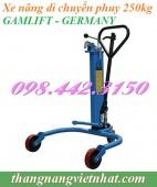 Xe nâng di chuyển phuy 250kg DP25 GAMLIFT giá siêu rẻ call 0984423150 – Huyền