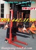 Xe nâng bán tự động 1.5 tấn nâng cao 3.3 mét giá cạnh tranh call 0984423150