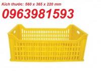 Sọt nhựa HS010, sóng nhựa hở HS018, sọt trái cây, rổ đựng đồ may mặc