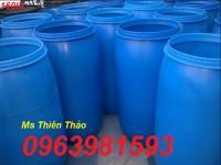 Cung cấp thùng đựng hóa chất, thùng đựng thực phẩm, thùng phuy nhựa 200 lít