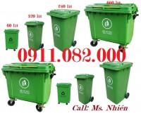 Thùng rác 120L 240L 660L giá rẻ-thùng rác 2 ngăn giá sỉ tại cần thơ