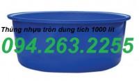 Thùng nhựa 500l có nắp đậy, thùng nhựa tròn 2000l, bồn nuôi cá,thùng chứa cỡ lớn