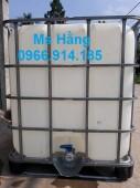 Tank ibc 1000 lít,bồn nhựa đựng hóa chất 1000 lít cũ