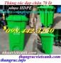 Thùng rác 70 lít đạp chân có bánh xe nhựa HDPE