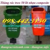 Thùng rác treo 50 lít nhựa composite giá rẻ, siêu cạnh tranh call 0984423150