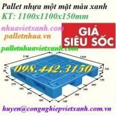 Pallet nhựa 1100x1100x150mm 3 đường thẳng giá rẻ, siêu cạnh tranh