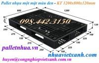 Pallet nhựa 1200x800x120mm đen giá siêu rẻ call 0984423150 Huyền