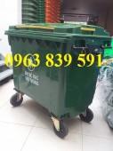 Cung cấp xe thu gom rác 660L hàng đầu cả nước