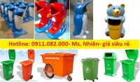Phân phối thùng rác 120 lít 240 lít giá rẻ tại hậu giang- thùng rác 2 bánh xe- l