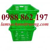 sọt nhựa quai sắt hs011, Sọt nhựa HS011, sọt nhựa quai sắt, sọt trái cây HS011,