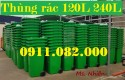 Thùng rác 120 lít màu xanh giá rẻ tại đồng tháp- lh 0911082000 Nhiên