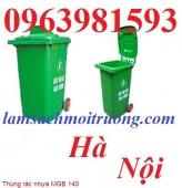 Thùng rác công nghiệp, thùng rác nhựa HDPE, thùng đựng rác 120 lít giá rẻ