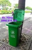 Thùng rác công cộng 120 lít,thùng rác trường học 120 lít giá rẻ