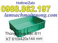 Thùng nhựa đặc, hộp nhựa đặc giá rẻ, thùng nhựa công nghiệp, thung chua cong ngh