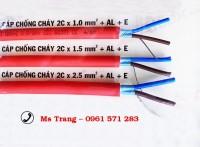 Cáp chống cháy, chống nhiễu 2C 1.5mm vỏ LSZH