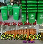 Thùng rác 240 lít giá rẻ tại vĩnh long- lh 0911.082.000