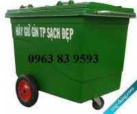 Sản xuất thùng rác 240l 2 bánh xe composite siêu bền, xe thu gom rác 660l