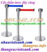 Cột chắn inox dây căng 1.8 mét, 2 mét, 3 mét và 5 mét giá rẻ, siêu cạnh tranh